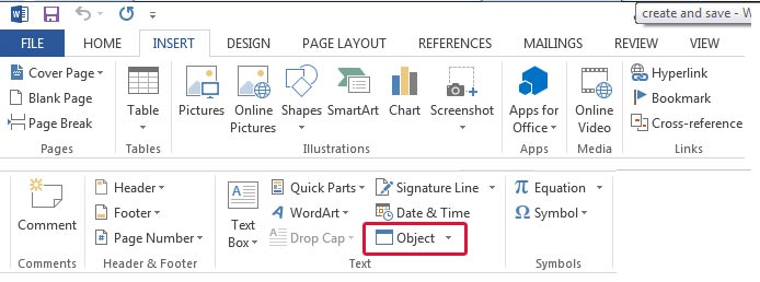 ms word insert multiple files