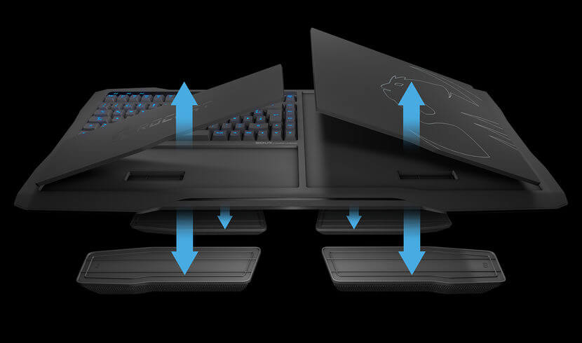 roccat sova lapboard, keyboard and mouse combo for the couch
